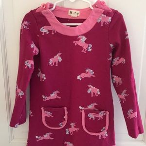 HATLEY Little Girls Pink Unicorn Dress Size 5
